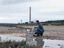 Studie van milieuvervuiling Stock Afbeeldingen