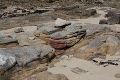 Studie von Felsen und von Flusssteinen Stockbild