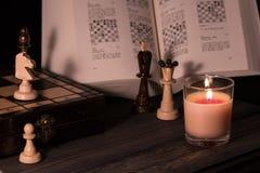 Studien av schack arkivfoton