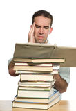 Studien-Kopfschmerzen Lizenzfreie Stockfotos