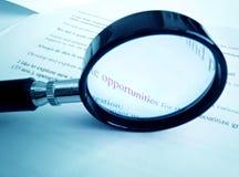 Studieren über Gelegenheiten Lizenzfreies Stockbild