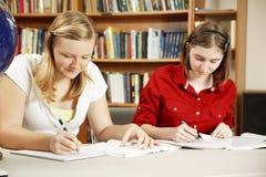 Studieren in der Bibliothek Stockbild