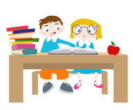 Studieren der Zeichentrickfilm-Figuren Stockfoto