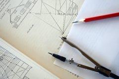 Studieren der Zeichnung. Stockfotos