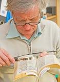 Studieren eines Verzeichnisses. Lizenzfreies Stockfoto