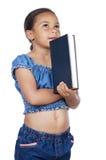 Studieren mit einem Buch Stockbild
