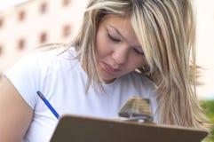 Studieren Sie die Prüfung Stockfotografie