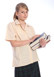 Studieren Sie Zeit für School-Jugendkursteilnehmermädchen Lizenzfreies Stockfoto