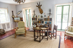 Studierum i Ernest Hemingway Home och museum i Key West Royaltyfri Foto