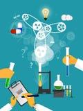 Studies in laboratory infographics. Royalty Free Stock Photos