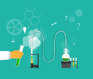 Studies in laboratory infographics. Royalty Free Stock Images