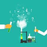 Studies in laboratory infographics. Royalty Free Stock Photo