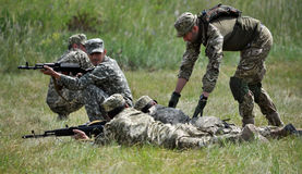 Studies training of detachment of territorial defensive_4 Stock Photo