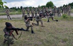 Studies training of detachment of territorial defensive_8 Stock Photo
