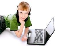 Studing boy Royalty Free Stock Image
