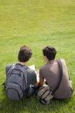 Studing in esterno Fotografie Stock