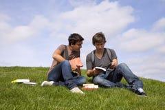 Studing in esterno Fotografia Stock