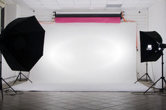The studio. With photo flash Stock Photos