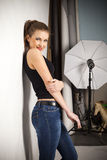 In studio Stock Foto's