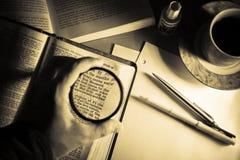 Studio 3 della bibbia Immagini Stock