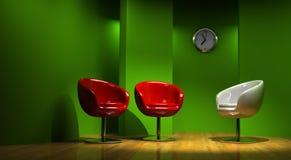 studio 3D per tre Immagine Stock Libera da Diritti