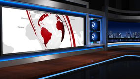 新闻studio_055 影视素材