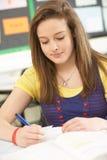 Studio adolescente femminile dell'allievo Immagini Stock Libere da Diritti
