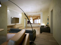 Studio apartment modern style Royalty Free Stock Photo
