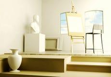 Studio of the artist. Stock Photos