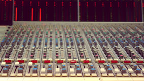 Studio Audio Desk Stock Photography