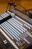 Studio audio mixer Royalty Free Stock Photo