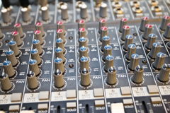 Studio audio mixer I Royalty Free Stock Photo