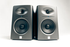 Studio Audio Monitors On White Royalty Free Stock Photo