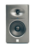 Studio audio monitors  on white Royalty Free Stock Photo