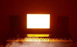 Studio audio numérique abstrait de poste de travail (daw) Image libre de droits