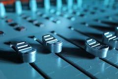 Studio av ljudsignalinspelningen Royaltyfria Bilder
