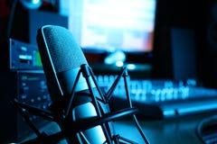 Studio av ljudsignalinspelningen Royaltyfria Foton