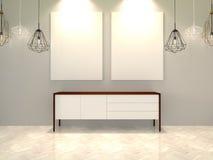 Studio avec le sofa intéressant Image stock