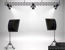 Studio backdrop eps 10 soft light Stock Photo