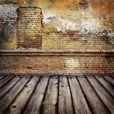 Studio background with brick wal stock illustration
