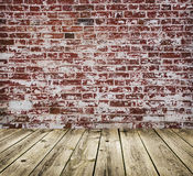 Studio background with brick wal Stock Image