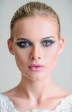 Studio beauty shot: closeup portrait of beautiful young girl Stock Photo