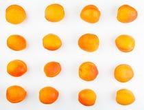 Studio bianco del fondo della frutta dell'albicocca Fotografia Stock