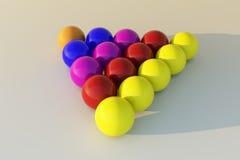 Studio billiard ball. 3D white  studio  billard balls Stock Photos