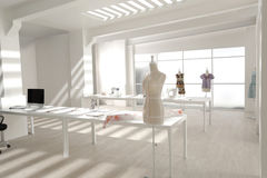 Studio blanc moderne de tailleur image stock
