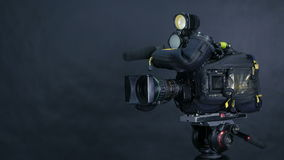 Studio broadcasting camera. Slider shot. stock footage