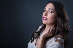Studio brunette Royalty Free Stock Photography