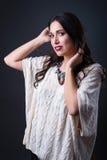 Studio brunette Royalty Free Stock Photos