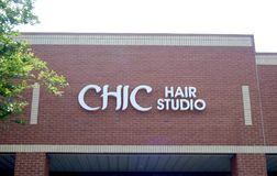 Studio chic de cheveux, Arlington, TN photo stock