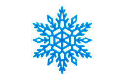 Studio close-up of a bright blue snowflake ornament Stock Photo